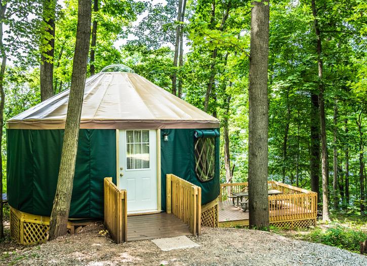 Yurt Camping Rentals In Pennsylvania Lake Raystown Resort