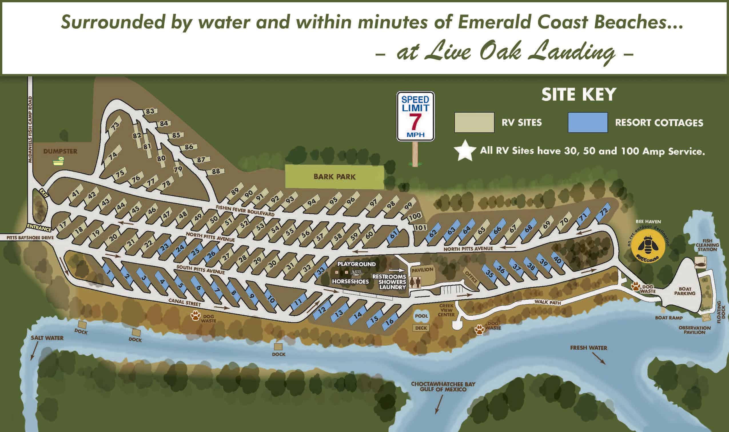 Live Oak Landing FL Map 2020